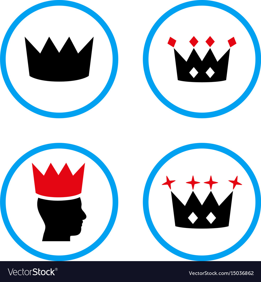 Crown rounded icons vector image