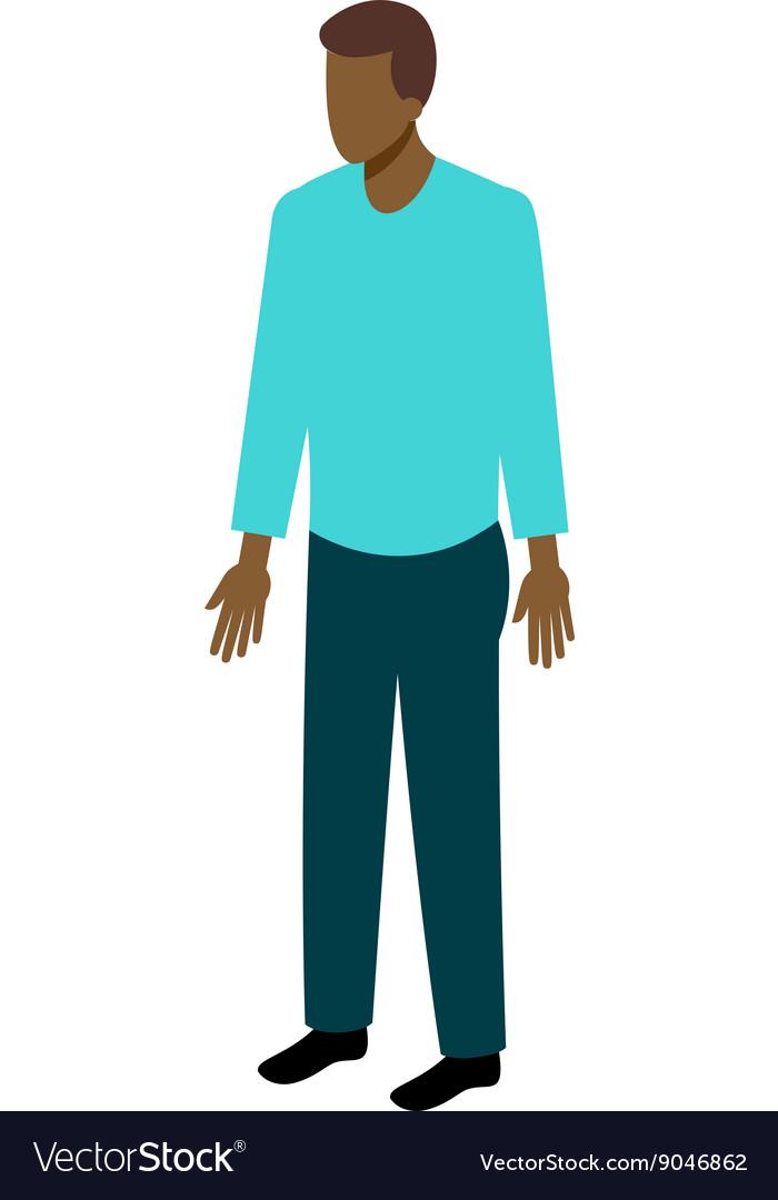 Isometric afro-american man vector image
