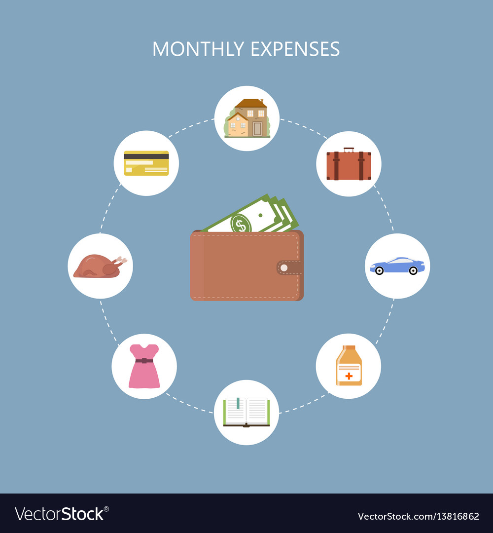 monthly expenses concept royalty free vector image