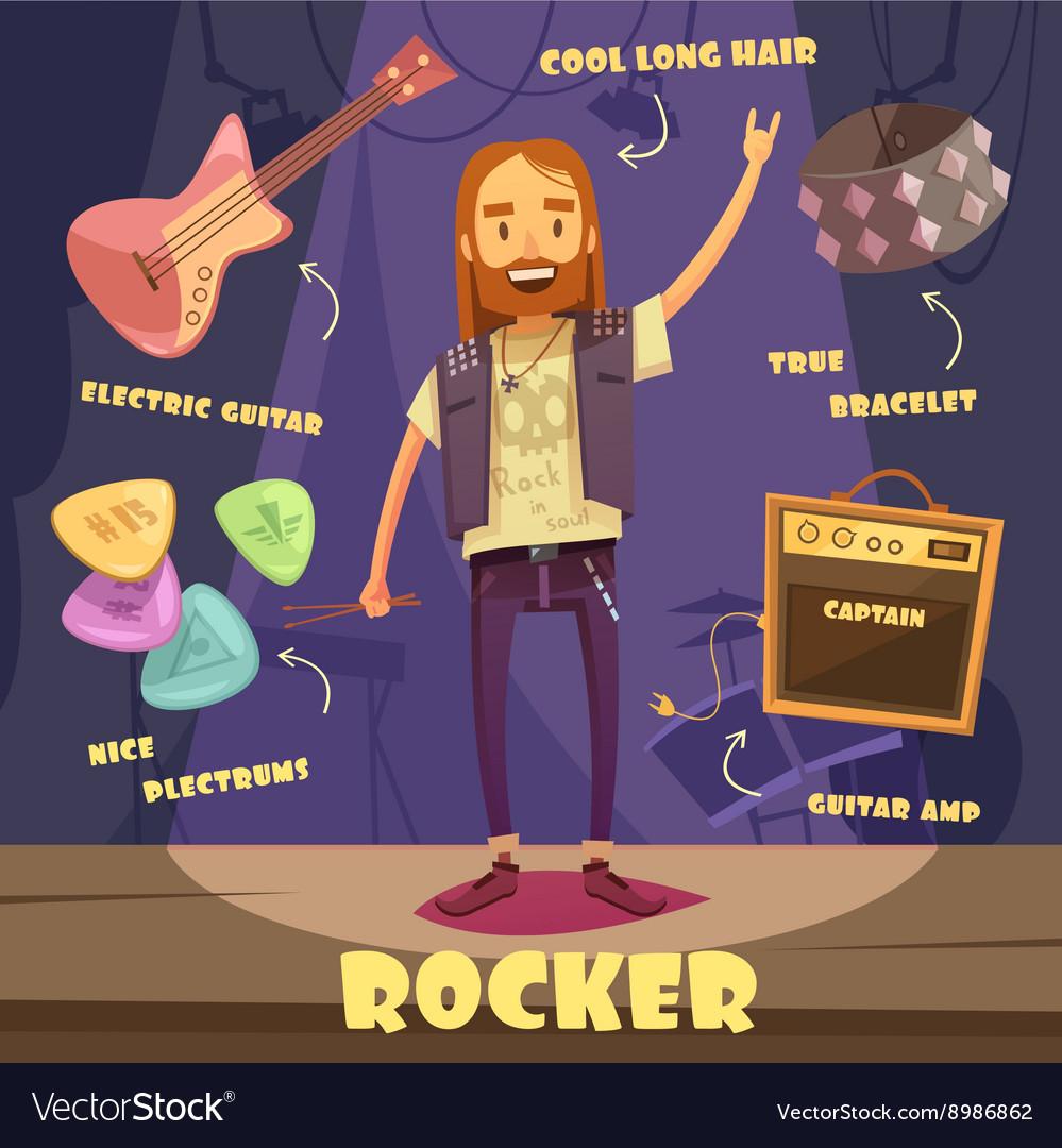 Rocker character pack for man