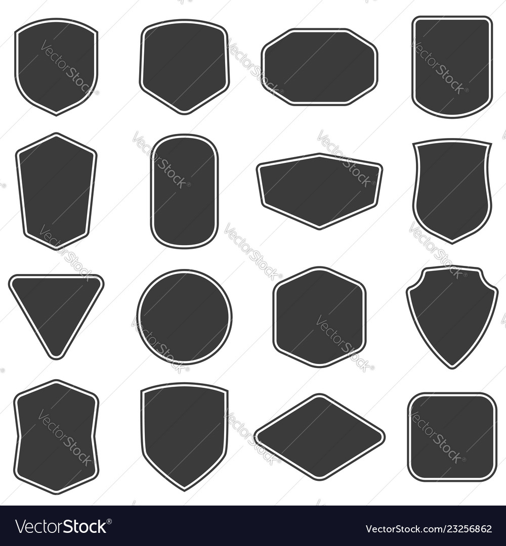 Set of vitage label and badges shape collections