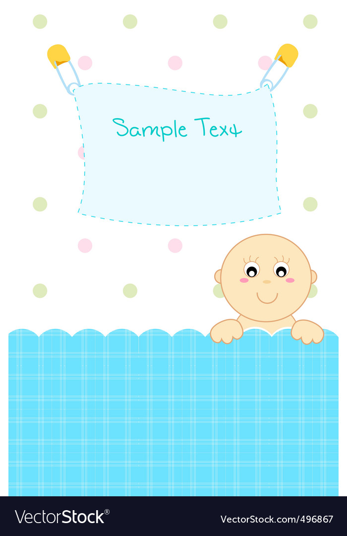 baby arrival announcement royalty free vector image