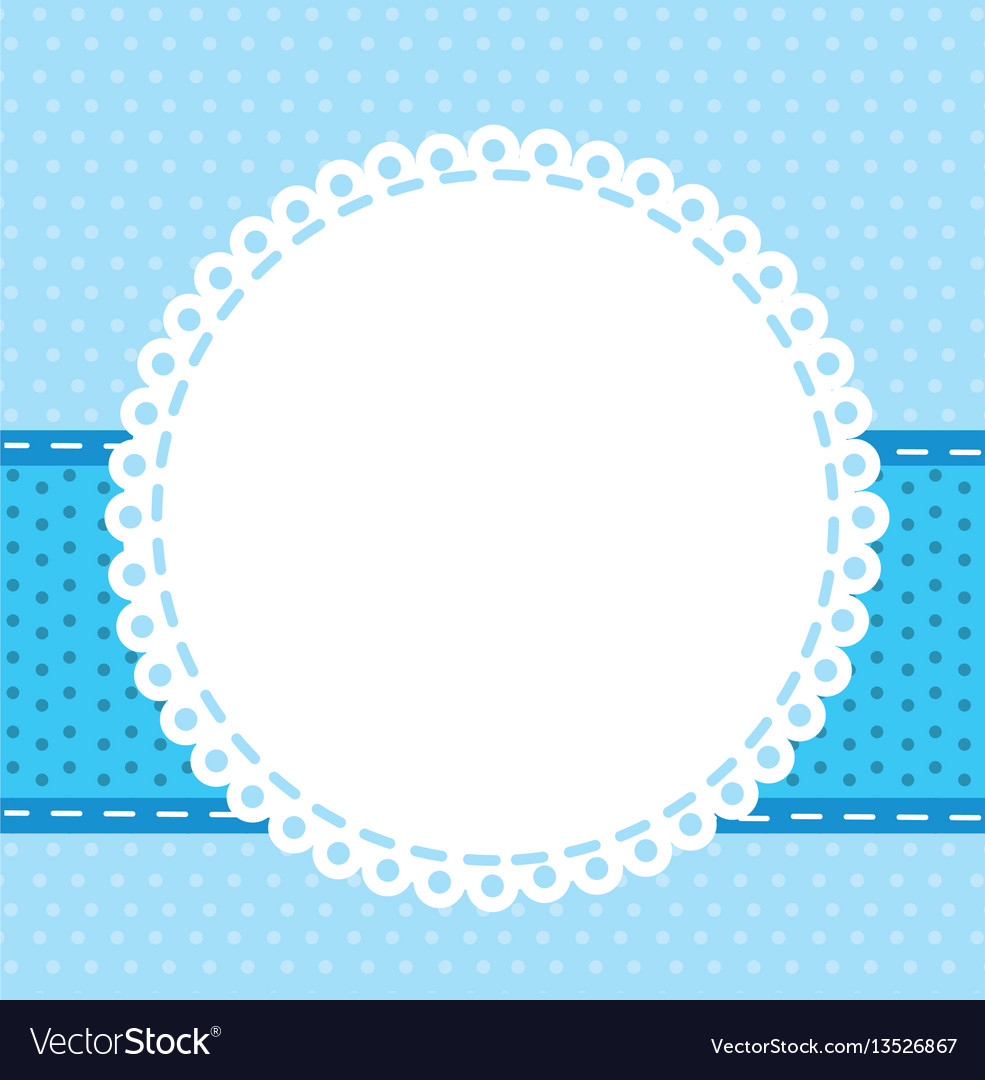 Blue background with with round symbol icon