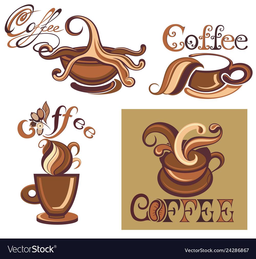 Coffee cups logo template