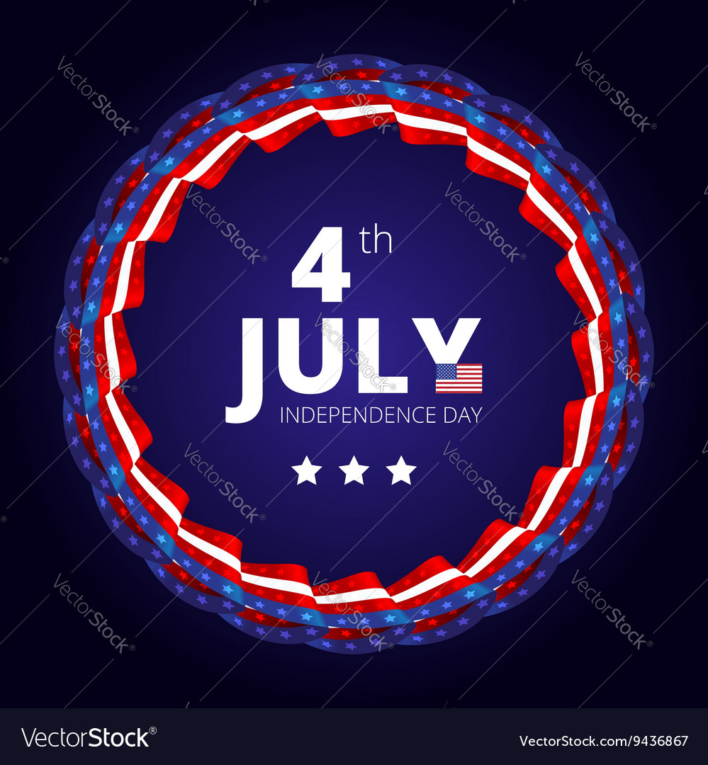 Frame to the Independence day of 4th july