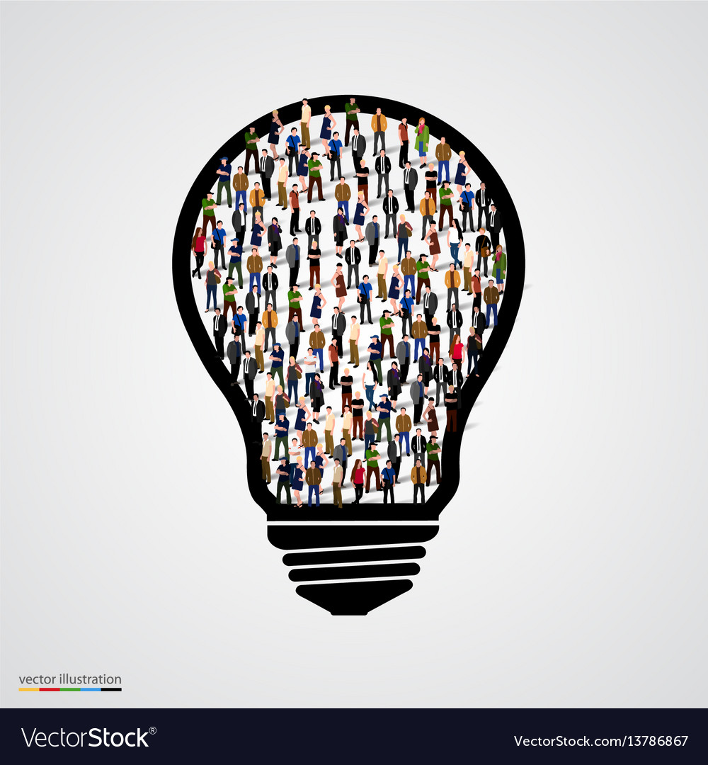 Group of people in bulb