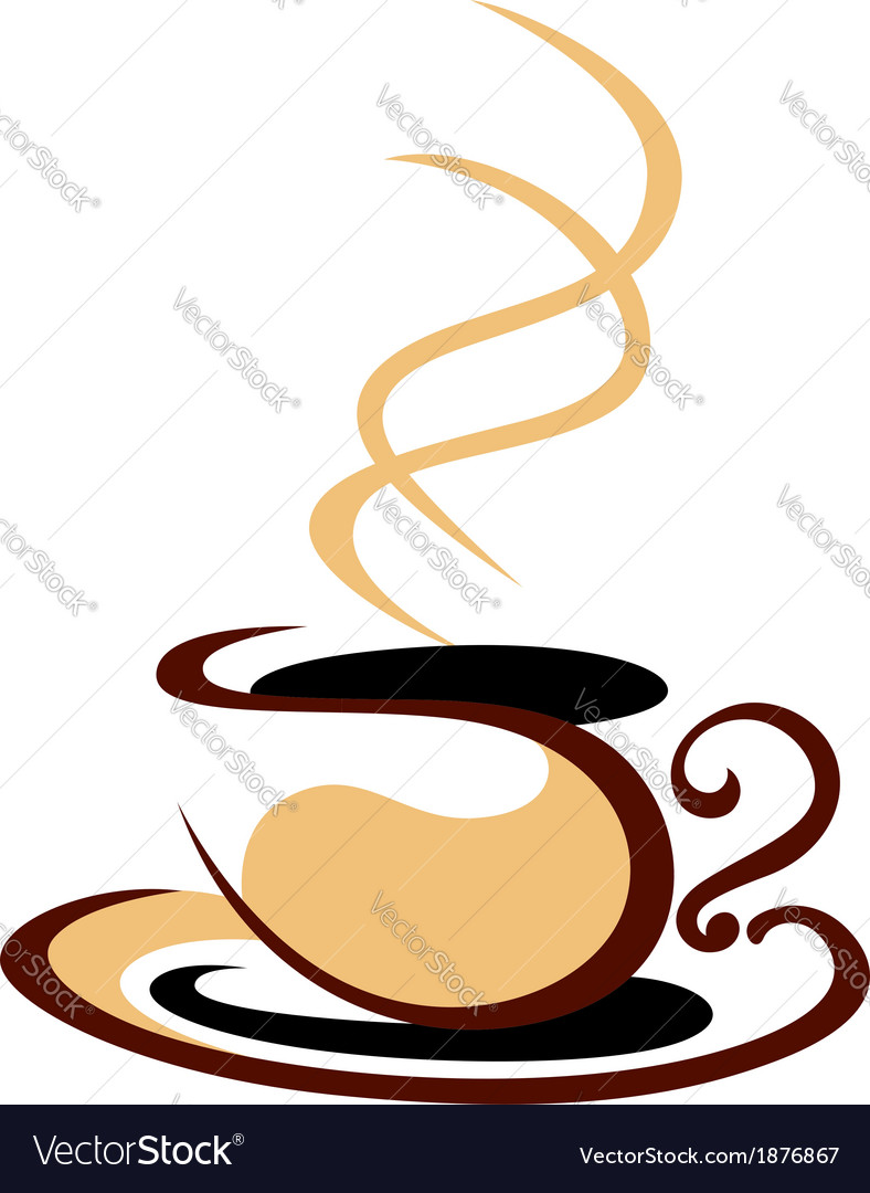 Hot steaming cup of coffee
