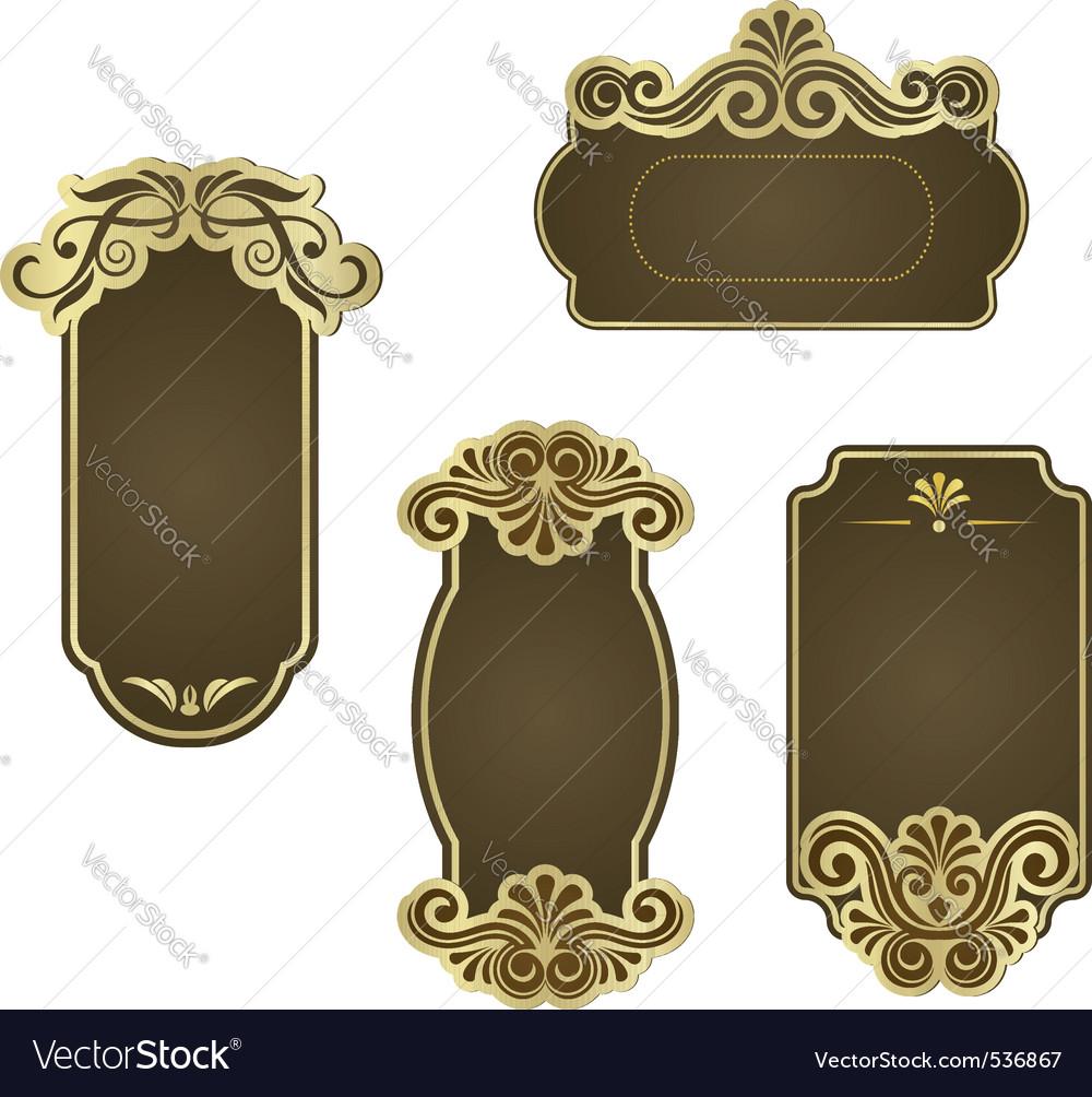 Set of retro frames for wedding templates