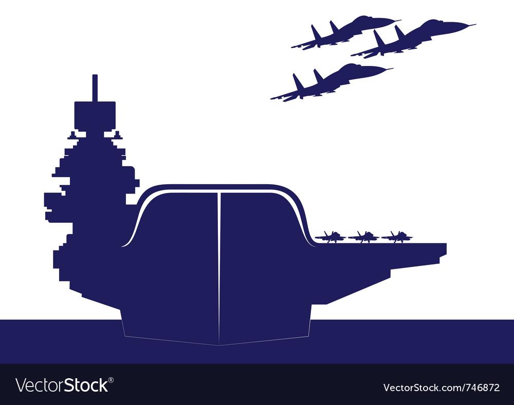 An aircraft carrier vector image