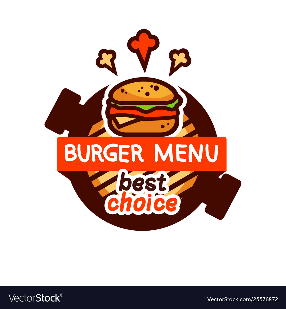 Burger very tasty logo emblem icon