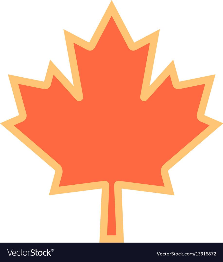 Canadian Maple Leaf Symbol Royalty Free Vector Image