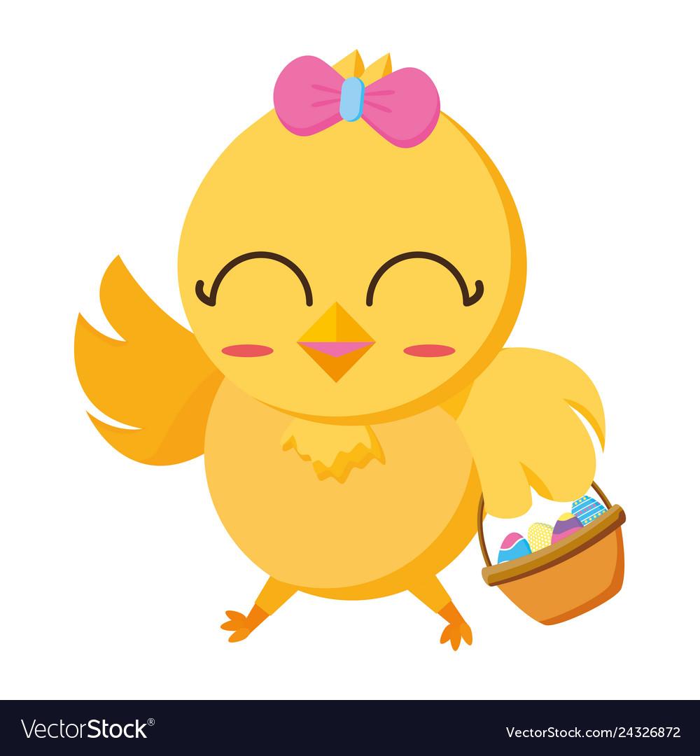 Cute chick female cartoon