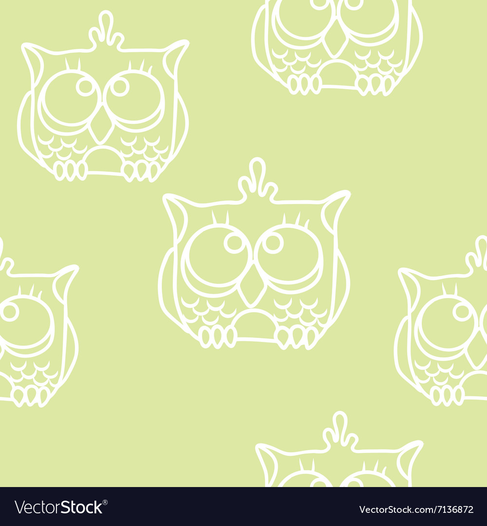Funny Seamless pattern with owls Baby owls
