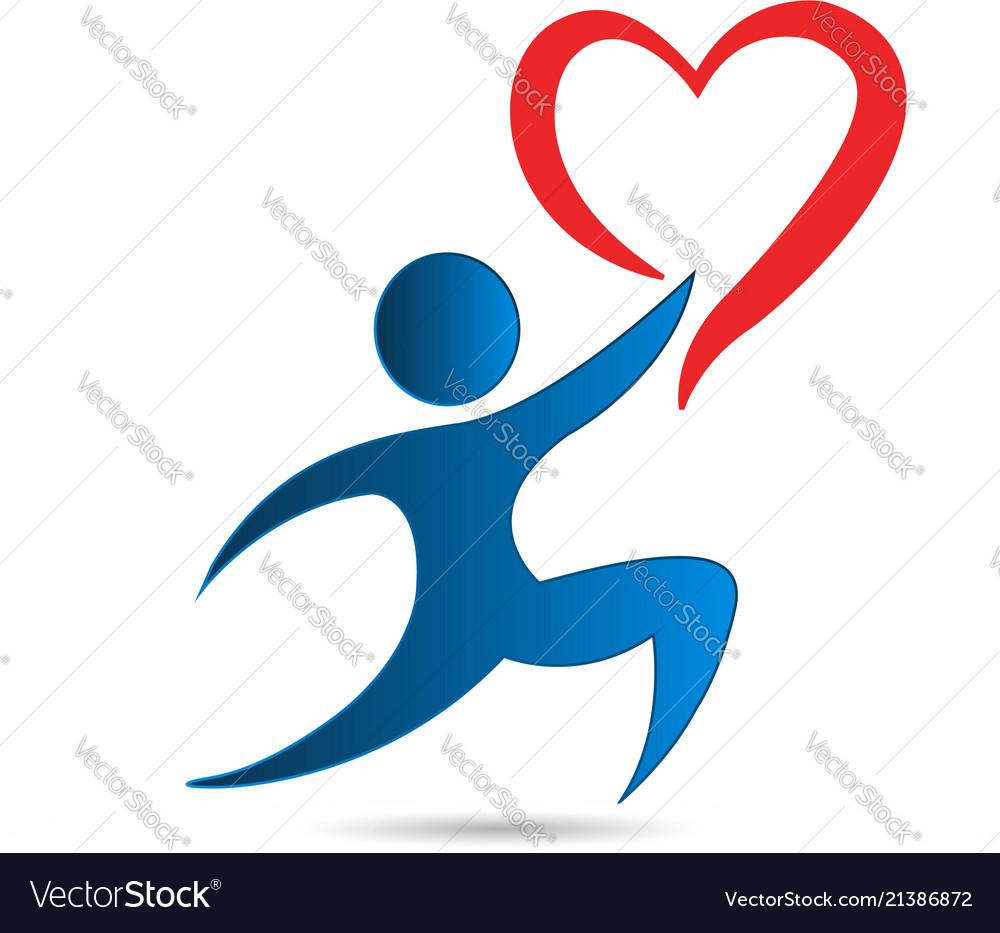 Gift giving people charity love heart logo