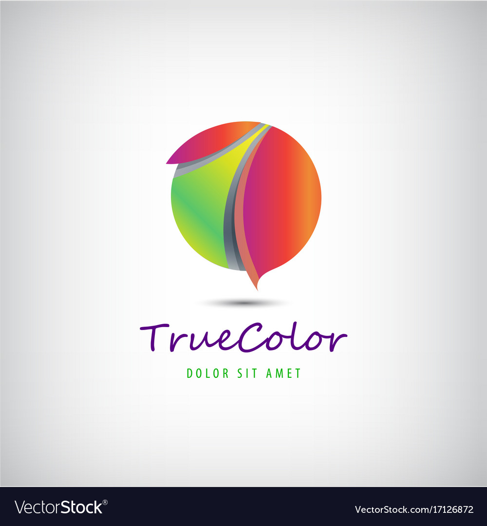 Sphere circle 3d colorful logo