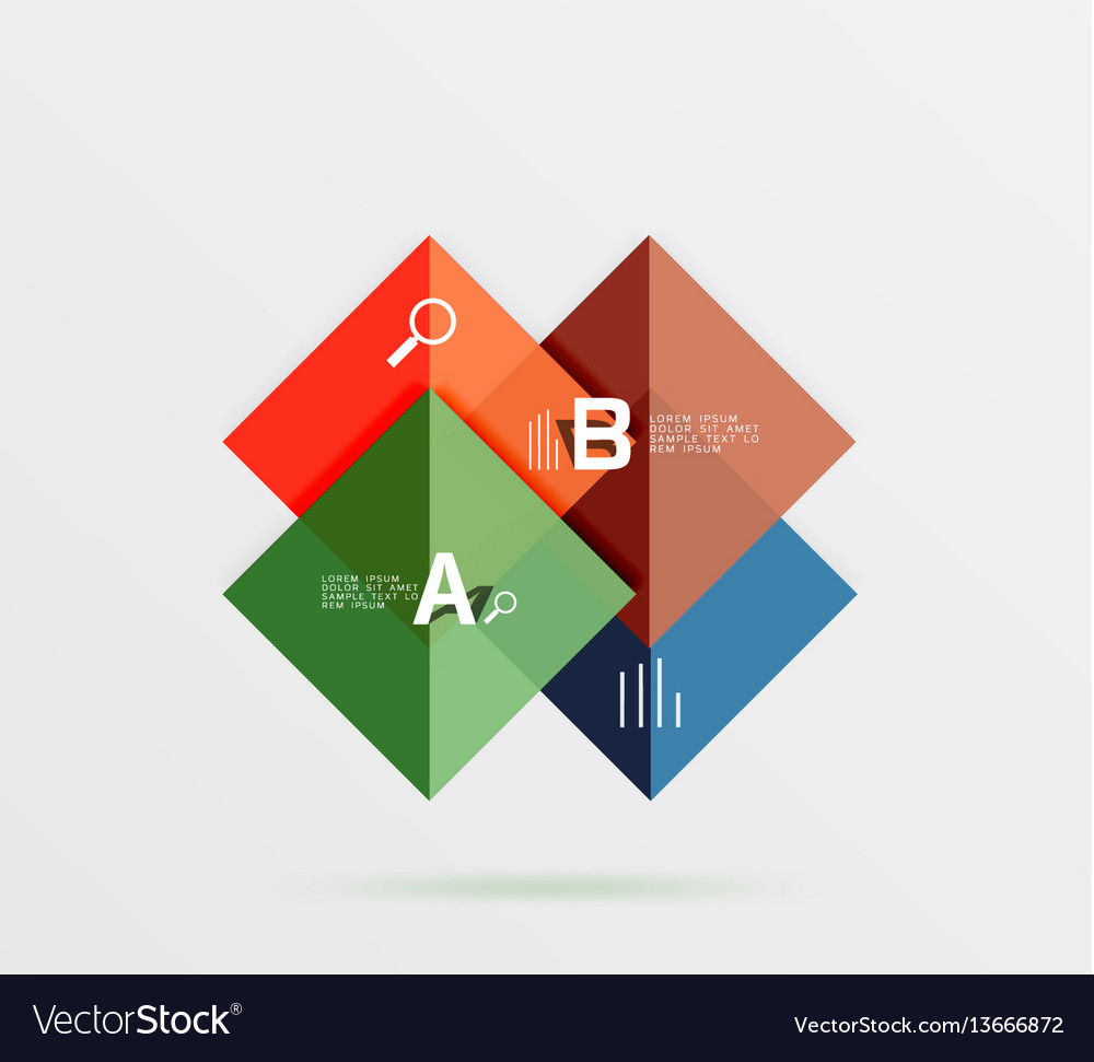 Square geometric abstract background vector image