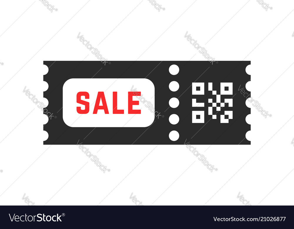 Black friday sale coupon with qr code