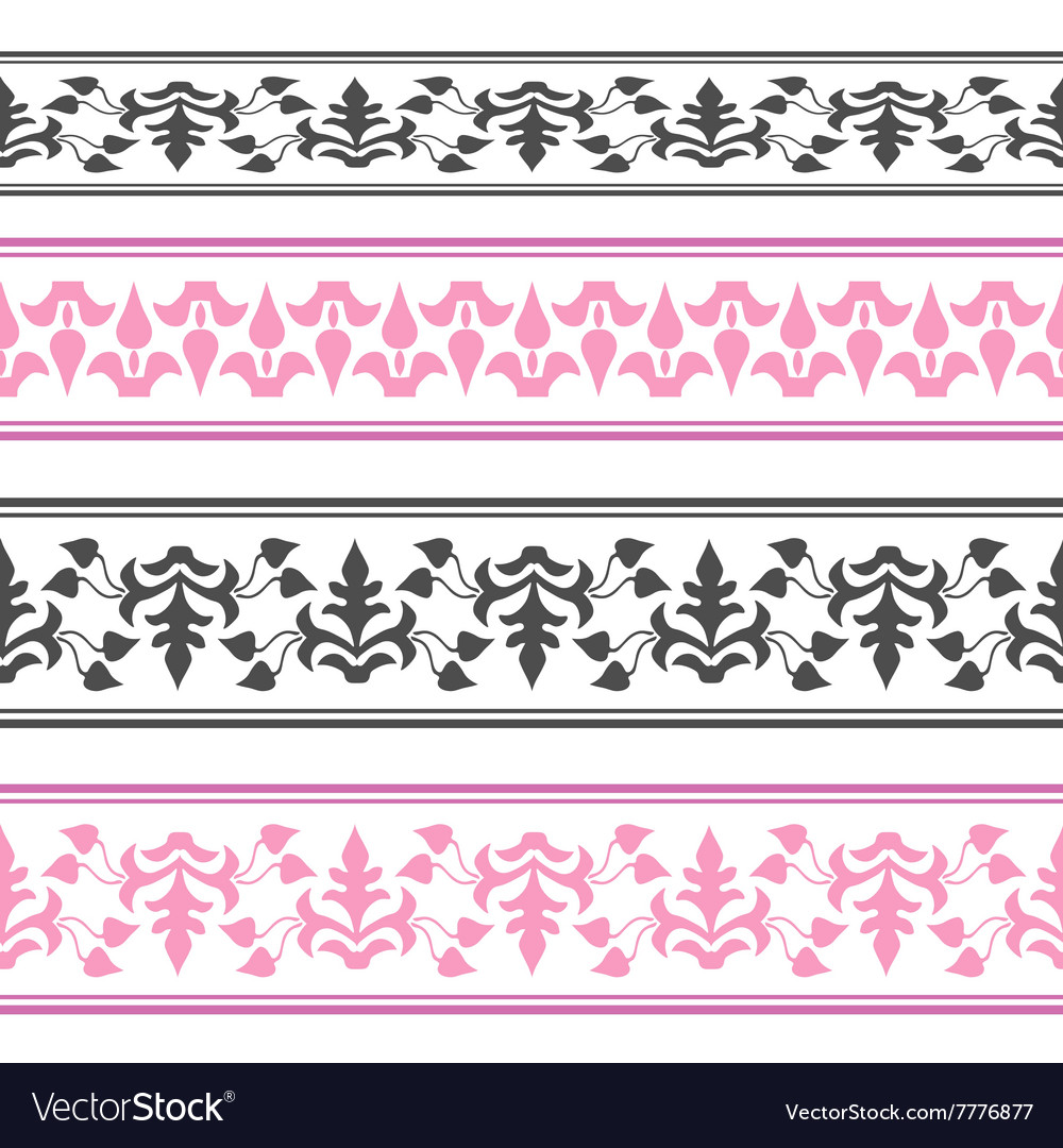 Decorative ribbon Seamless strip