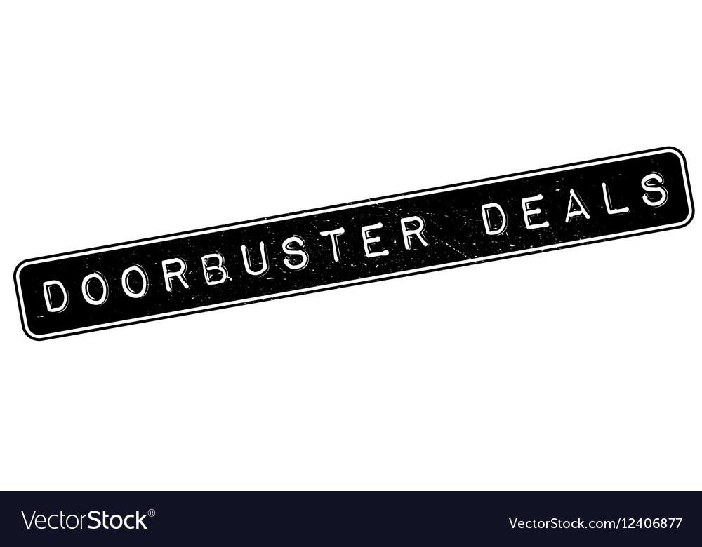 Doorbuster Deals rubber stamp