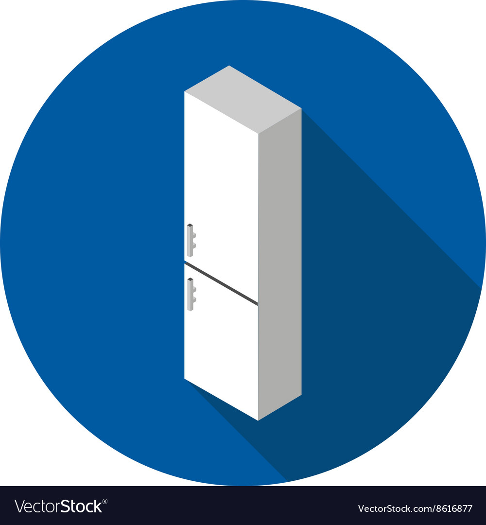 Flat icon refrigerator