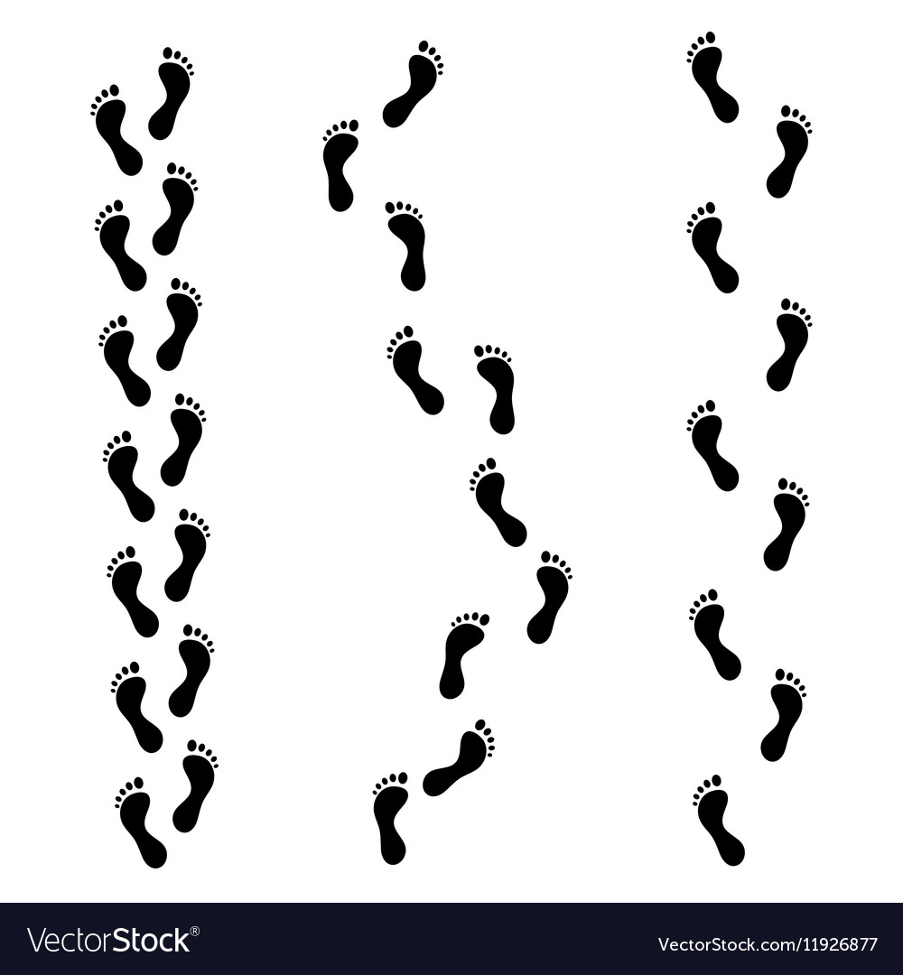 Foot Trail Footprints or Barefoot vector image