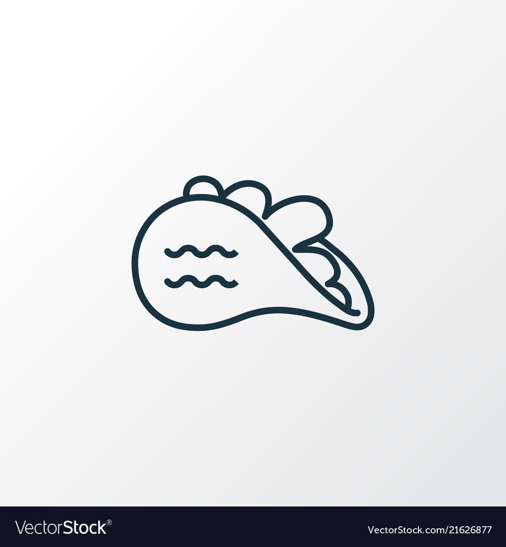 Tacos icon line symbol premium quality isolated