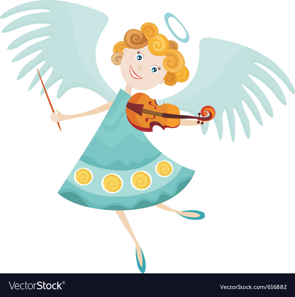 Angel cartoon vector image