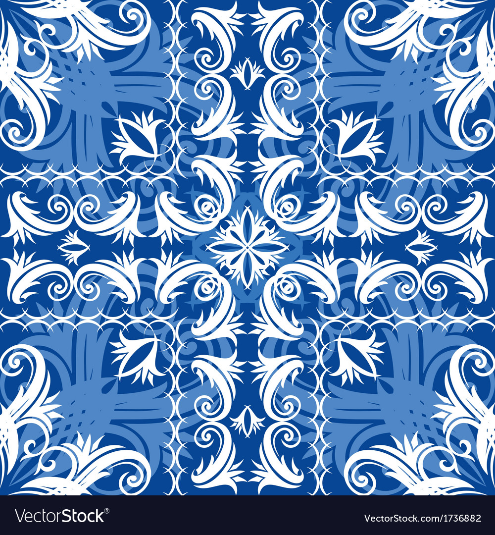 Blue vintage seamless vector image