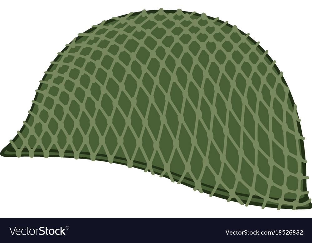 Camouflaged military helmet