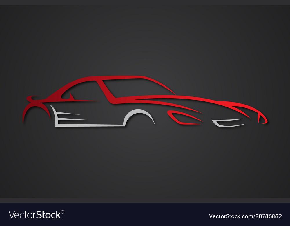 Elegant Car Emblems Royalty Free Vector Image Vectorstock