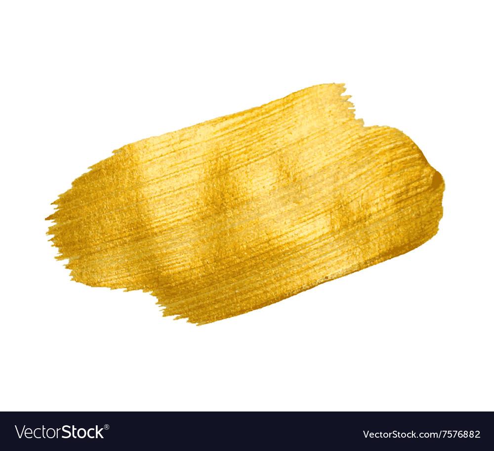 Gold Texture Brush stroke design element