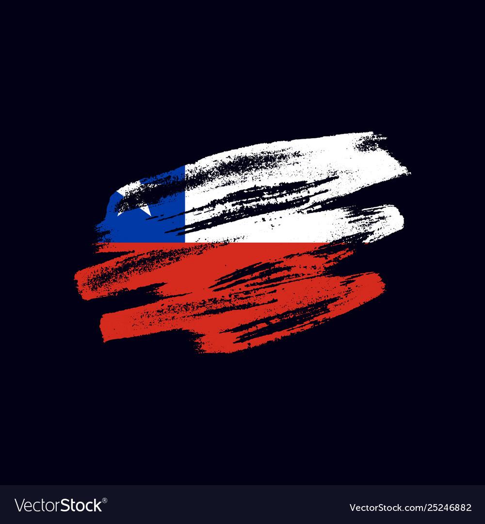 Grunge textured chilean flag