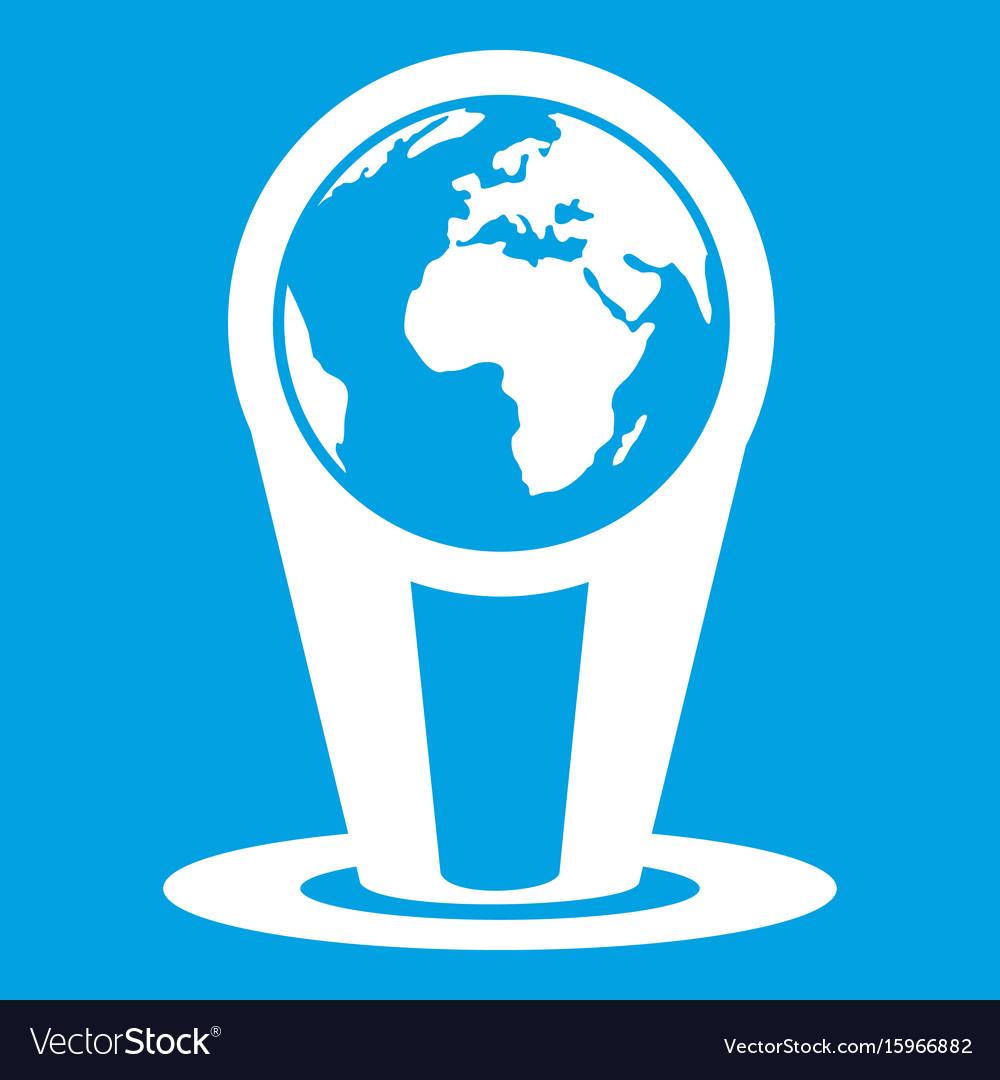 Hologram globe icon white