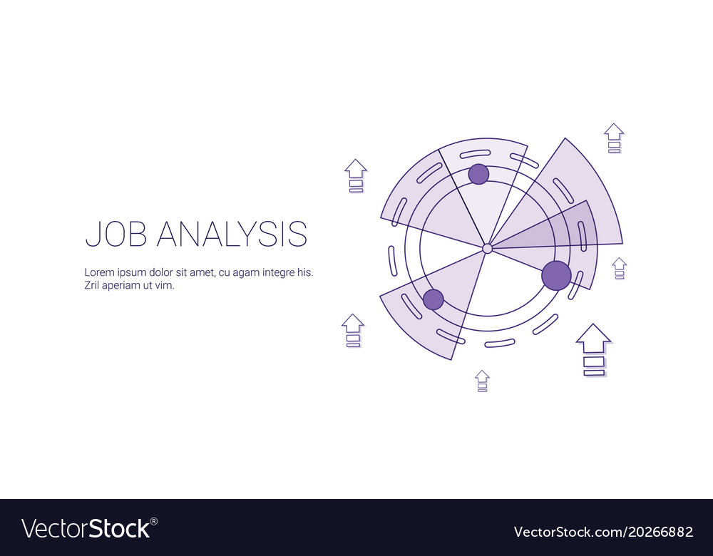 Job analysis business template web banner with vector image on vectorstock ccuart Images