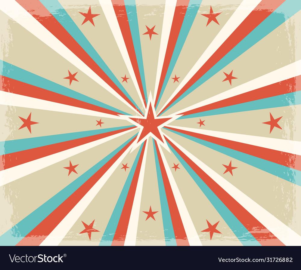 Retro circus radial rays background