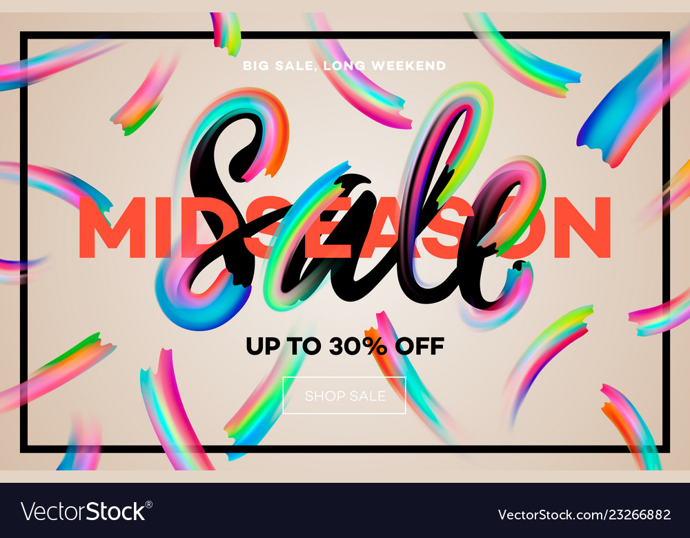 Sale banner template midseason sale