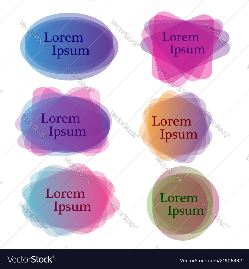 Set of colorful different shapes abstract banners