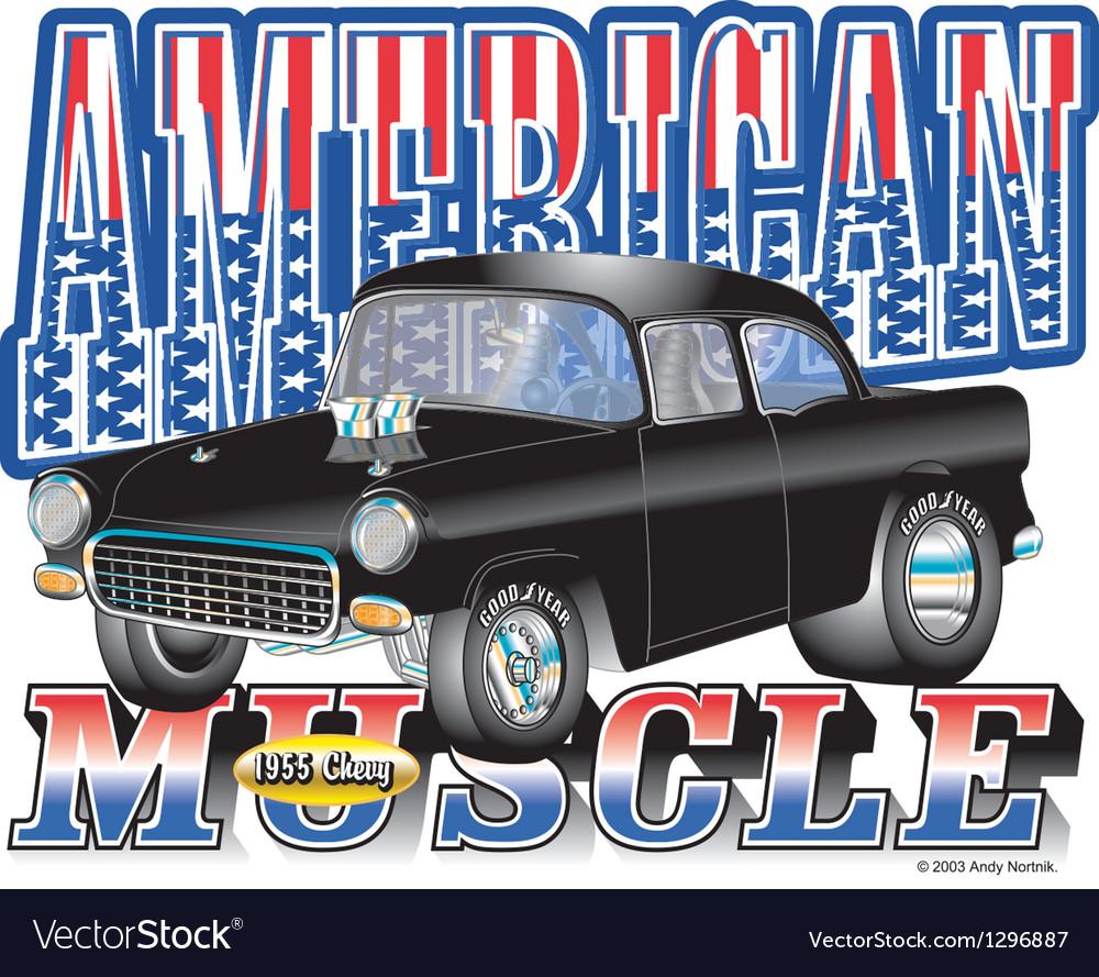 1955 American Chevy vector image