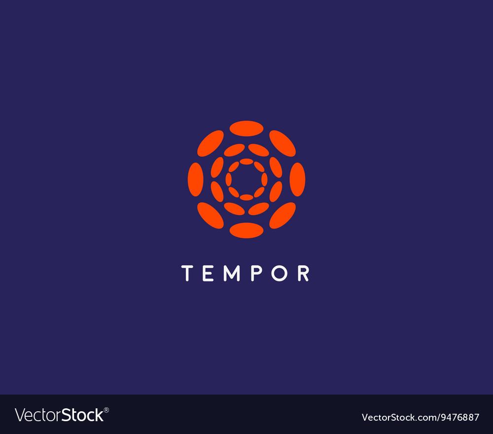Abstract hubs flower logo design template