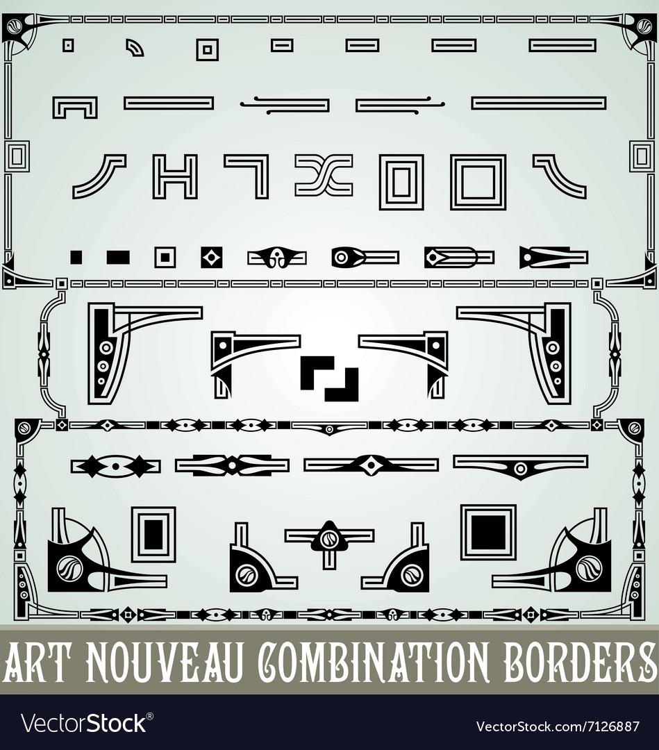 Art Nouveau Combination Border