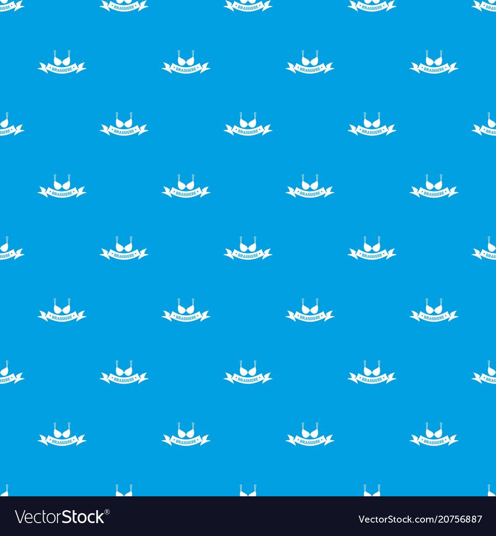 Brassiere summer pattern seamless blue