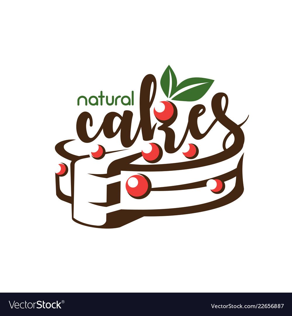Cake stylized symbol logo template