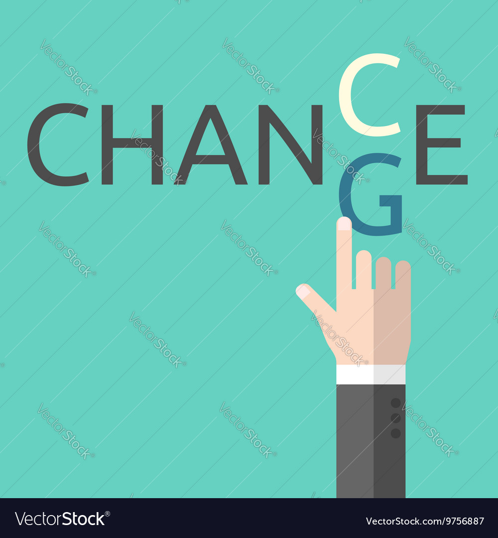 Change and chance concept