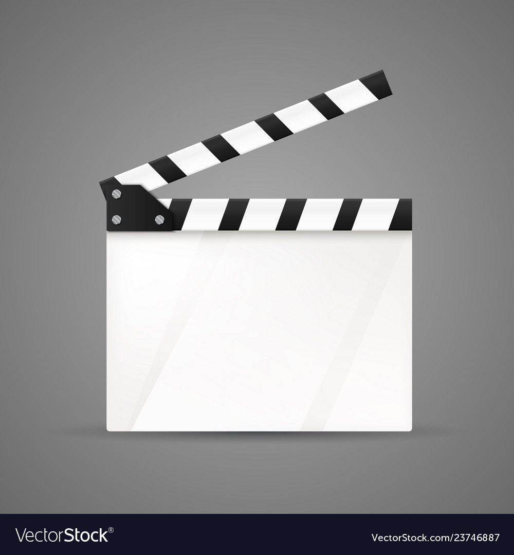 Clapper board movie clapper isolated