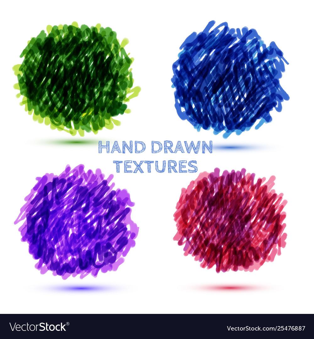Color hand drawn speech bubbles grunge texture