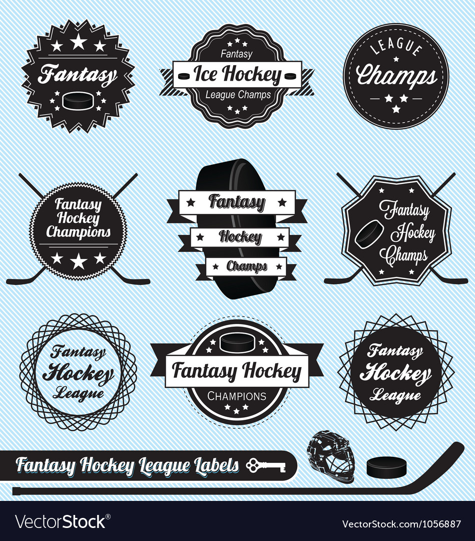 Fantasy Hockey League Champions Labels