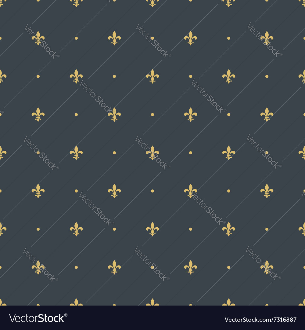 Fleur de lis seamless pattern background