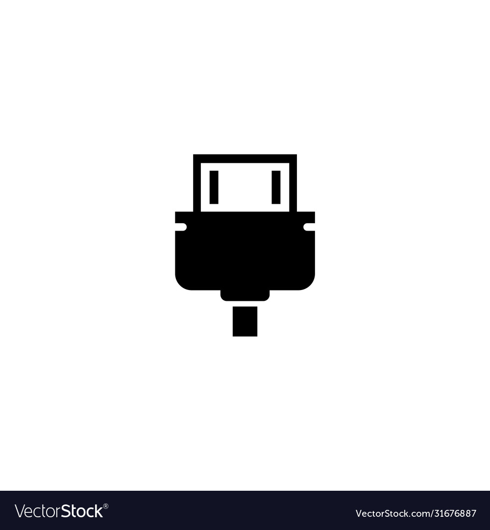 hdmi cable video audio plug connect flat icon vector image vectorstock