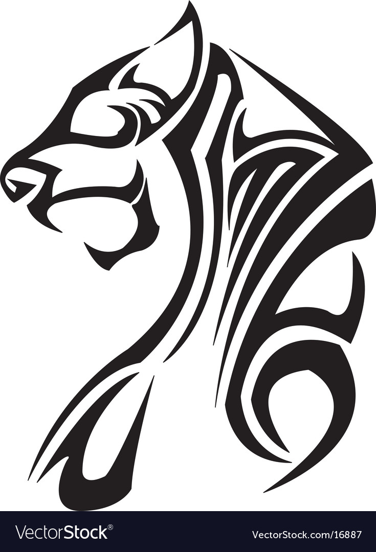 Lion Tattoo Vector. Artist: kiclik76; File type: Vector EPS