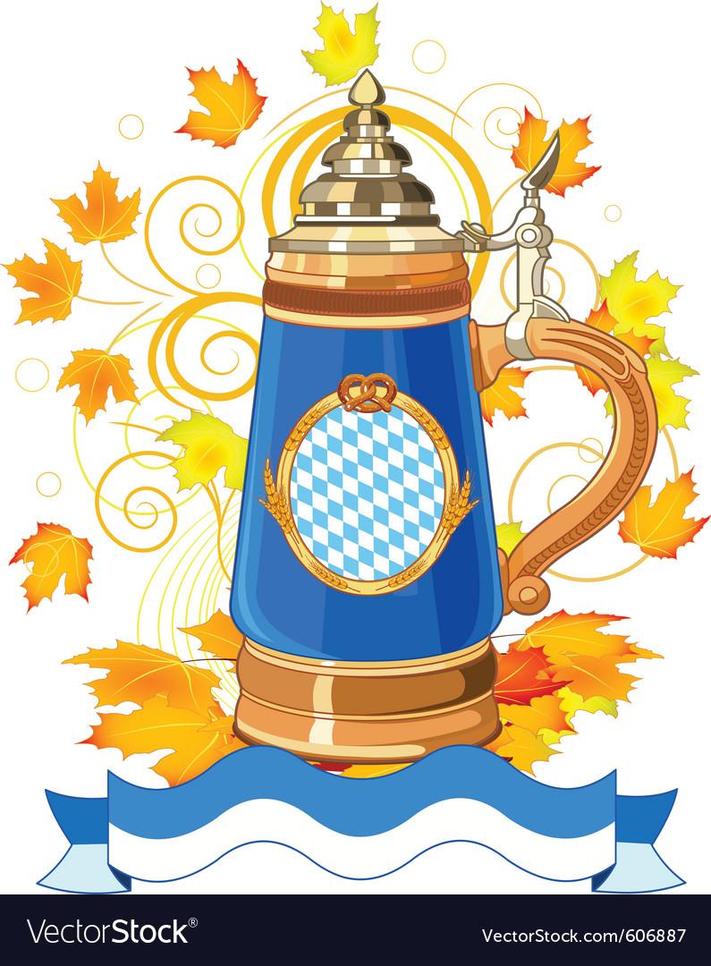 Oktoberfest celebration vector image
